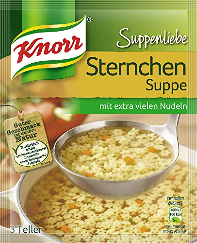 Knorr Suppenliebe Sternchen Suppe, 13 x 3 Teller (13 x 750 ml)