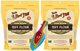 Bobs Whole Grain Teff Flour Red Mill Bundle. Includes Two Pack of 20oz Packages of Bobs Whole Grain Teff Flour Red Mill and a Measuring Spoons Set from Cheerful Bites!