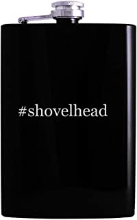 #shovelhead - 8oz Hashtag Hip Alcohol Drinking Flask, Black