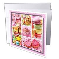 スーザンブラウンデザインデザートテーマ–Cookie and Cakesコラージュ–グリーティングカード Set of 6 Greeting Cards