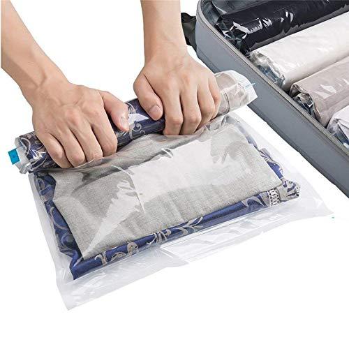 SilverRack Vakuumbeutel Set [12 Stück] in 3 Größen - Reise u. Travel Vakuumierbeutel für Kleidung - Aufbewahrung Vakuumbeutel für Kleidung zum Rollen - Vakuum-Platzsparer Kleiderbeutel