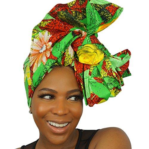 The Urban Turbanista 100% African Wax Cotton Ankara Print Headwraps & Turbans   Authenthic Kente Fabric Head Wraps