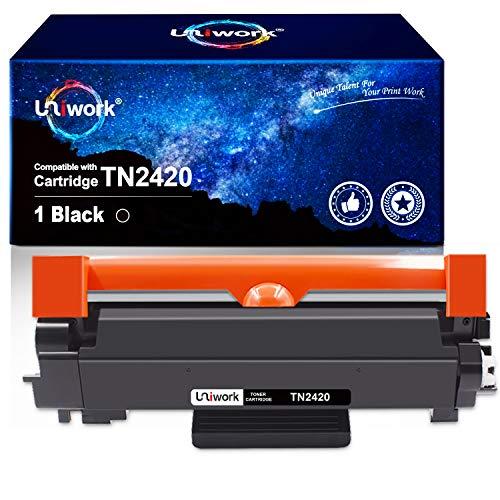 Uniwork Toner Kompatibel für Brother TN2420 TN-2420 TN-2410 für Brother MFC-L2710DW HL-L2350DW HL-L2370DN MFC-L2710DN HL-L2310D DCP-L2530DW HL-L2375DW DCP-L2510D MFC-L2750DW, mit Chip