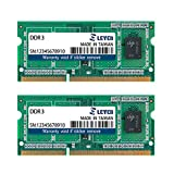 LEVEN DDR3 4GB (2GB×2) 1333MHz PC10600 Non-ECC SODIMM PC Computer Laptop Memory Module Ram Upgrade-(JR3SL1333172308-2Mx2)