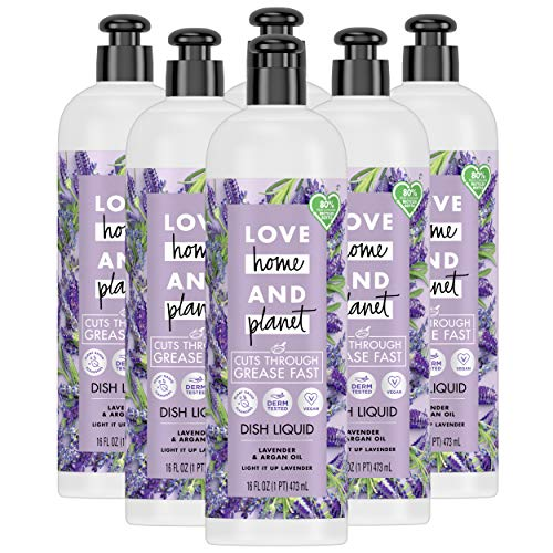 Love Home and Planet Love Home and Planet Dish Soap Lavender & Argan Oil 16oz, 6pk, 6 Count