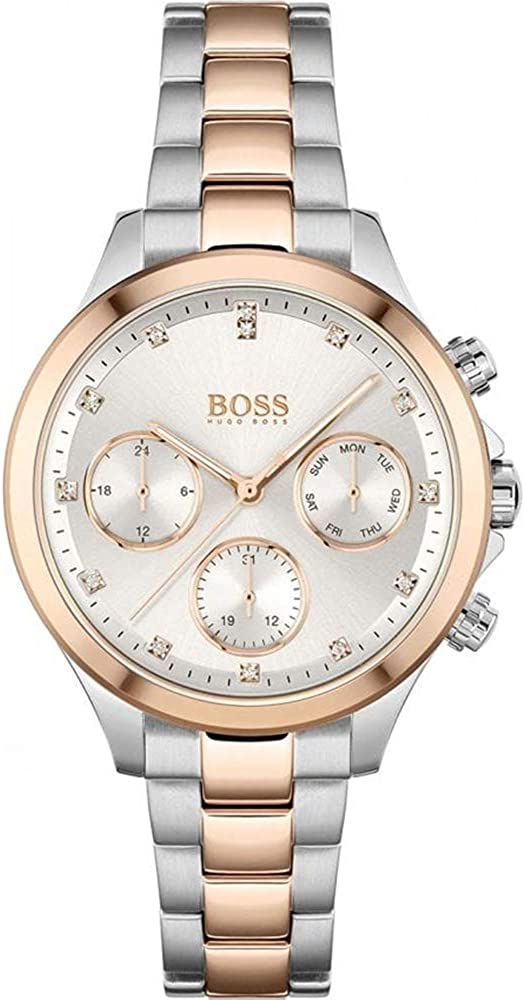 Hugo Boss Reloj Analógico para Mujer de Cuarzo con Correa en Acero Inoxidable 1502564