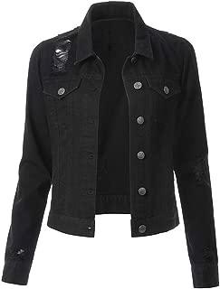 Women's Denim Trucker Jacket Long Sleeve Short Denim Jacket Jeans Original Trucker Jacket
