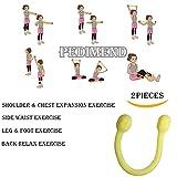 Pedimend Bras d'exercice Bande élastique à la maison/gym (2pcs)–pectoraux...