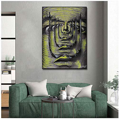 NIEMENGZHEN Druck auf Leinwand Salvador Dali Klassische Malerei Abstrakte Drucke Leinwand Malerei Wandkunst Bilder für Wohnzimmer Cuadros Wohnkultur 70 x 100 cm (27,5