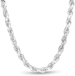 Best big silver rope chain Reviews