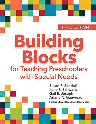 Compare Textbook Prices for Building Blocks for Teaching Preschoolers with Special Needs Third Edition, New edition Edition ISBN 9781681253411 by Sandall Ph.D., Susan R.,Schwartz Ph.D.  BCBA-D, Dr. Ilene S.,Joseph Ph.D., Gail,Gauvreau Ph.D.  BCBA-D, Dr. Ariane N.,Hemmeter M.Ed. Ph.D., Dr. Mary Louise