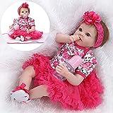 ZIYIUI Reborn Bébé Poupée Lifelike Reborn Baby Dolls Fille Réaliste Souple en Silicone Réaliste Bébés Cadeau d'anniversaire pour Enfants (1)