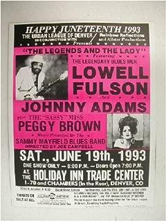 Lowell Fulson Johnny Adams Peggy Brown HandBill Poster
