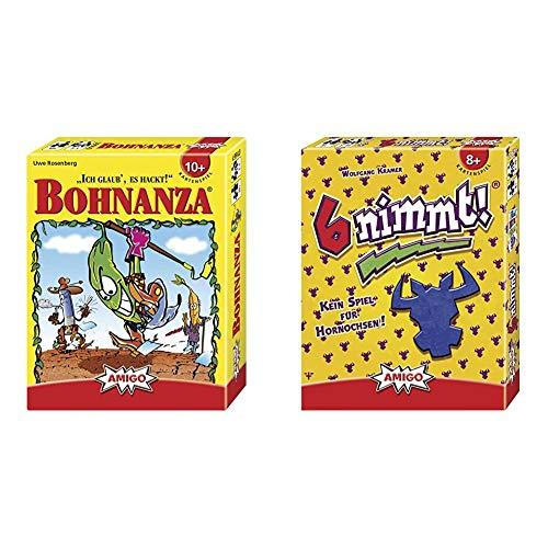 Amigo Spiel + Freizeit Amigo 01661 Bohnanza, Spiel & Amigo 4910 - 6 nimmt!, Kartenspiel