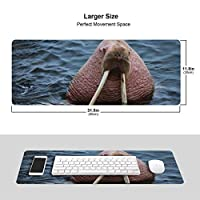 北極海 セイウチ マウスパッド キーボードパッド 滑らかマウスパッド ゲーミングパッド 大型 オフィス 家庭用