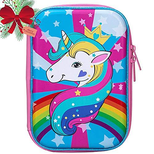 Unicorn Pencil Box for Girls Kids Cute Pencil Case
