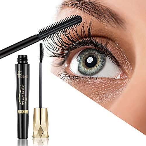 2021 Crown Mascara - 4D Wimpernwimperntusche aus Seidenfaser Wasserdicht,Volumenreiche verdickende Wimperntusche, weiche Wimperntuschenbürste, langlebig, ohne Verklumpen und Verschmieren (1Stk)