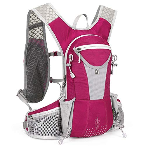 CHSDN Outdoor Cycling Bag 12L Outdoor Bag Cycling Backpack Backpack Men And Women Hiking Cross-Country Running Personal Backpack Pink 22 cm X 20X43 cm