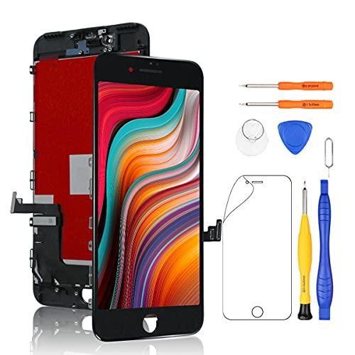 Yodoit Display per iPhone 7 Plus Nero, 5.5'' Schermo Retina LCD Vetro Touch Screen Digitizer Parti di Ricambio Contiene Strumenti + Pellicola in Vetro temperato