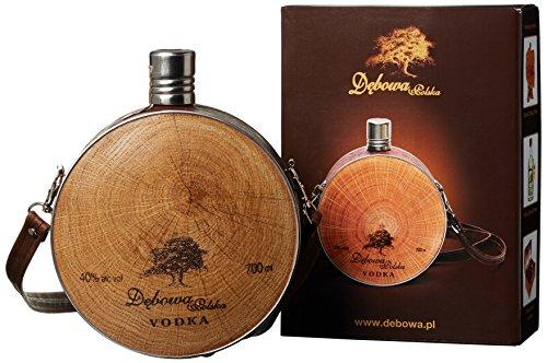 Debowa Polska Buklak Jägerflasche mit Lederband Wodka (1 x 0.7 l) Titelbild