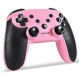 コントローラー 機動ゲームのハンドルPC Controlコンソールジョイスティックコントローラの4色のBluetoothゲームパッドプロコントローラー SYMJP (Color : ピンク, Size : 1)
