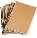 Bloc de Notas Espiral A5, AGPTEK 4 Pcs Cuaderno de Cuentas Mano Diario...