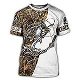 Streetwear Unisex Casual tee Tops Caza Animal Pesca Ciervos Jabalí 3D Impreso Camiseta Verano Mujeres Hombres Manga Corta Style 21 XL