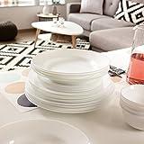 Zoom IMG-1 luminarc 18pz ceramica bianco everyday