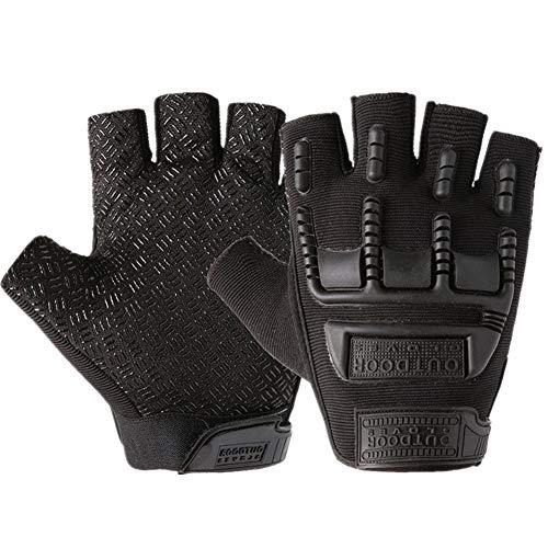 Handschuhe Fingerlos Schwarz Handschuhe Fingerlos Handhandschuhe Für Männer Zum Radfahren Bikerhandschuhe für Männer Fahrradhandschuhe Damen Black,Free Size