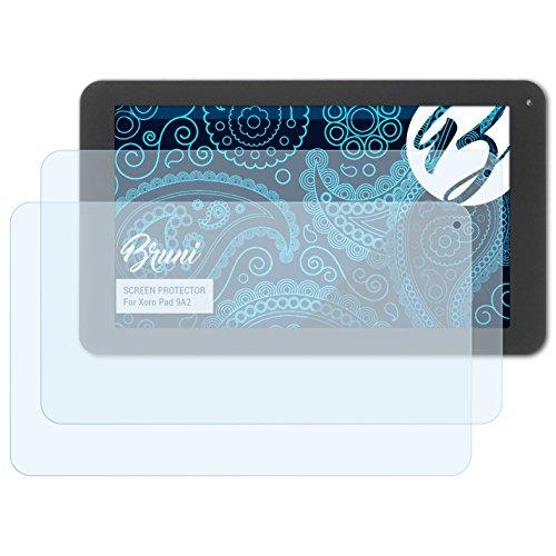 Bruni Schutzfolie kompatibel mit Xoro Pad 9A2 Folie, glasklare Bildschirmschutzfolie (2X)