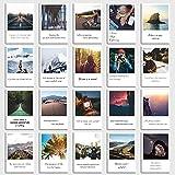 Conjunto de Tarjetas Postales de Viajar - 20 tarjetas con imágenes y adagios de viajar, playa, vacaciones, aventuras en estilo retro polaroid de INDIVIDUAL NOMAD