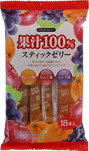 リボン  18本 果汁100%スティックゼリー  18本×12袋