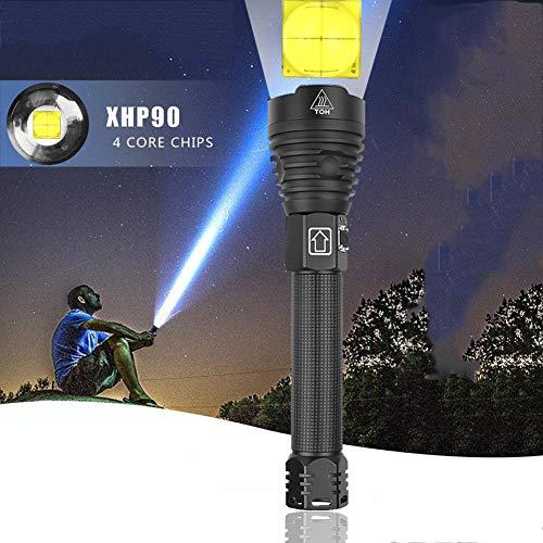 KAR Highesmost Potente XHP90 Largo Alcance De La Linterna Táctica LED Antorcha Luz Zoomled Uso 26650 Grande De La Batería