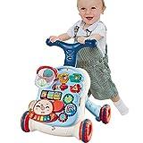 El Último Cochecito para Niños Pequeños, Uso 3 En 1 como Juguete para Empujar, Andador Interactivo para Bebés con Tiro Y Música,A