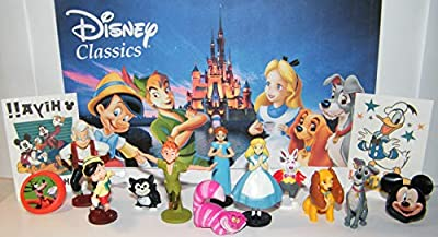 Peter Pan Movie Party Favors, Alice In Wonderland Party Favors, Pinocchio Movie Party Favors, Lady and the Tramp Movie Party Favors Set of 10 Figures and More!