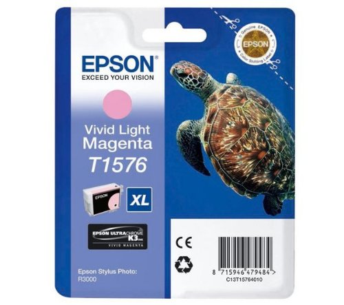 Epson C13T15764010 - T1576 - Vivid Light Magenta - Original - blíster - cartucho de tinta - for Stylus Photo R3000
