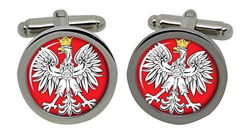 Gift Shop Polen Polska Manschettenknöpfe in Chrom Kiste