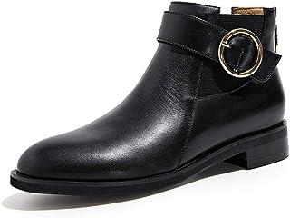 Obtén lo ultimo WHL.LL Mujer PU botas de martin Antideslizante Resistente al al al desgaste Botón de metal Plano Botines La moda botas de vestir  para mayoristas
