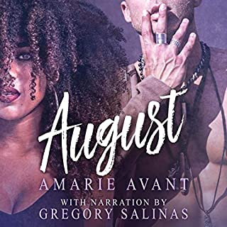 August audiobook cover art