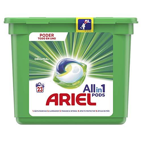 Ariel Todo en Uno Pods, Regular Detergente en Cápsulas 23 Lavados, con...