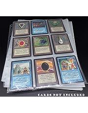 docsmagic.de 50 9-Pocket Pages - 11-Hole - 3-Ring Album - MTG - YGO - Juego de Fundas para Cartas para Jugar y coleccionar - Hojas de 9 Bolsillos