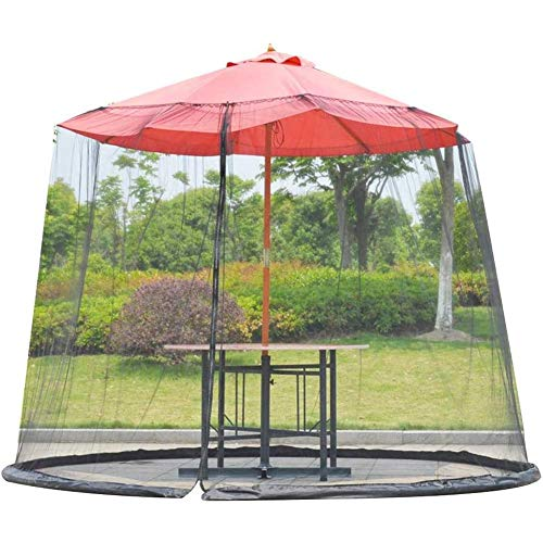 Beautifully Mosquito Net,MultifunctionPatio Umbrella net, Outdoor Mosquito Net Table Screen Parasol Net with Insect Proof Design Suitable for Gazebos Polyester