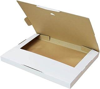 ボックスバンク クリックポスト・ゆうパケット ネコポス用ダンボール箱 A4 白【310×227×23mm】25枚セット FY04-0025
