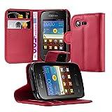 Cadorabo Funda Libro para Samsung Galaxy Pocket Neo en Rojo CARMÍN - Cubierta Proteccíon con Cierre Magnético, Tarjetero y Función de Suporte - Etui Case Cover Carcasa
