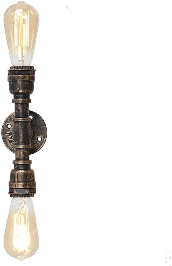 EFINEHOME Vintage Edison Industrial Super beauty product restock quality Factory outlet top Bathroom 2-Light Ligh Vanity