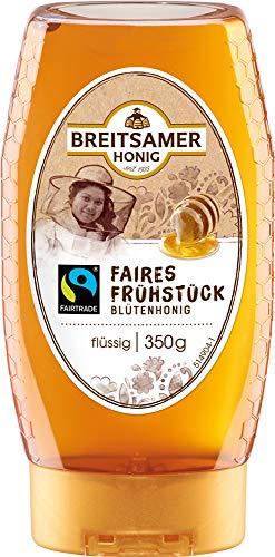 Breitsamer Faires Frühstück Honig, Fairtrade Blütenhonig, 5er Pack (5 x 350 g)