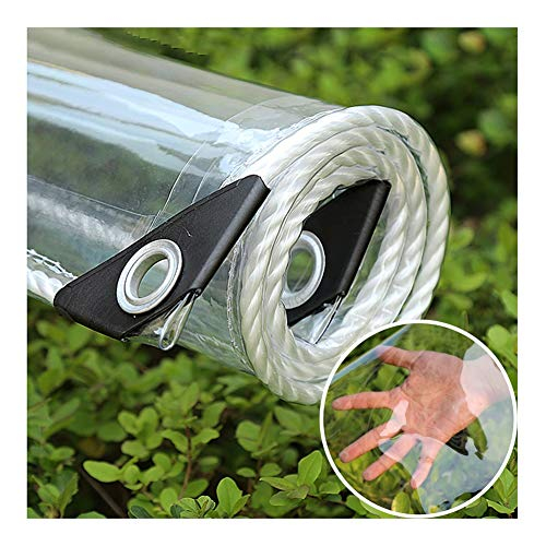 GZHENH Garden Shade Cloth PVC Transparent Waterproof Cloth Home Balcony Anti-UV Dust-proof Foldable Greenhouse Cover, 23 Sizes (Color : Clear, Size : 1.1x2.9m)