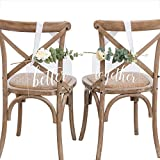 Ling's moment Handmade Acrylic Wedding Chair Signs Better and Together Chair Signs Wedding Chair Decorations