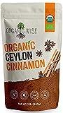 Organic Wise Ceylon Cinnamon Powder Organic, Pure Ceylon Cinnamon Spice, USDA Certified Organic, Ground Powder, 1 lb Bulk Bag, Packed In USA