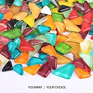 colored glass shapes for crafts